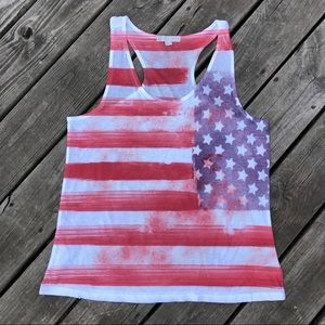 American Flag Inspired Tank Top